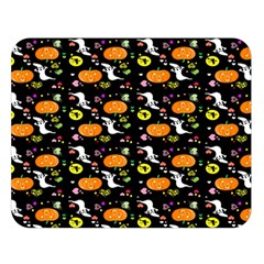 Ghost Pumkin Craft Halloween Hearts Double Sided Flano Blanket (large)  by Mariart