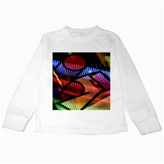 Graphic Shapes Experimental Rainbow Color Kids Long Sleeve T Shirts