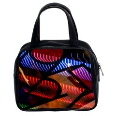 Graphic Shapes Experimental Rainbow Color Classic Handbags (2 Sides) by Mariart