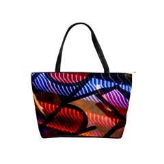 Graphic Shapes Experimental Rainbow Color Shoulder Handbags by Mariart