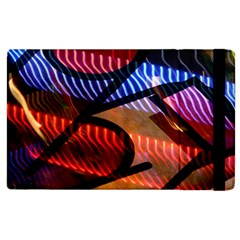 Graphic Shapes Experimental Rainbow Color Apple Ipad 3/4 Flip Case by Mariart