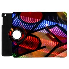 Graphic Shapes Experimental Rainbow Color Apple Ipad Mini Flip 360 Case by Mariart