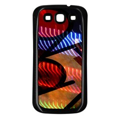 Graphic Shapes Experimental Rainbow Color Samsung Galaxy S3 Back Case (black) by Mariart