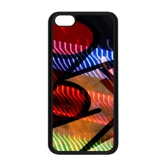 Graphic Shapes Experimental Rainbow Color Apple Iphone 5c Seamless Case (black) by Mariart