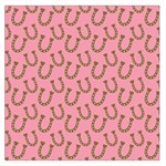 Horse Shoes Iron Pink Brown Large Satin Scarf (Square) Front