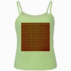 Halloween Squares Plaid Orange Green Spaghetti Tank by Mariart