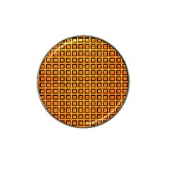 Halloween Squares Plaid Orange Hat Clip Ball Marker (10 Pack) by Mariart