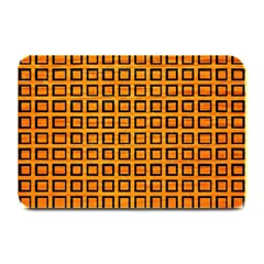 Halloween Squares Plaid Orange Plate Mats by Mariart