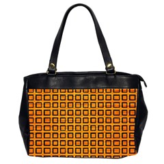 Halloween Squares Plaid Orange Office Handbags (2 Sides)  by Mariart