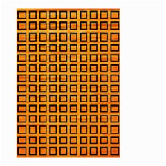 Halloween Squares Plaid Orange Small Garden Flag (two Sides) by Mariart
