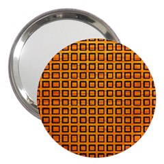 Halloween Squares Plaid Orange 3  Handbag Mirrors by Mariart