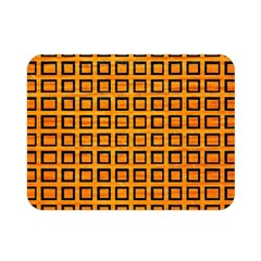 Halloween Squares Plaid Orange Double Sided Flano Blanket (mini)  by Mariart