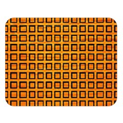 Halloween Squares Plaid Orange Double Sided Flano Blanket (large)  by Mariart