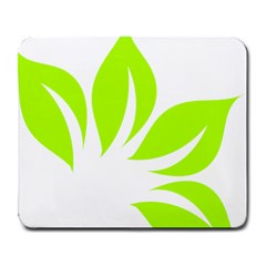 Leaf Green White Large Mousepads by Mariart