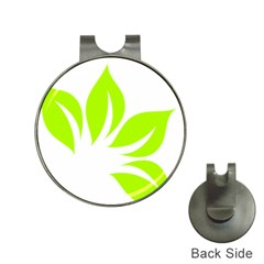 Leaf Green White Hat Clips With Golf Markers by Mariart
