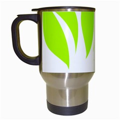 Leaf Green White Travel Mugs (white) by Mariart