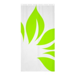 Leaf Green White Shower Curtain 36  X 72  (stall)