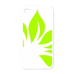 Leaf Green White Apple Iphone 4 Case (white) by Mariart