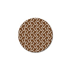 Horse Shoes Iron White Brown Golf Ball Marker (10 Pack) by Mariart