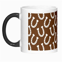 Horse Shoes Iron White Brown Morph Mugs by Mariart
