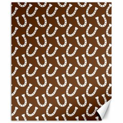 Horse Shoes Iron White Brown Canvas 20  X 24   by Mariart