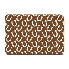 Horse Shoes Iron White Brown Plate Mats by Mariart