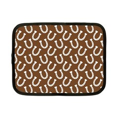 Horse Shoes Iron White Brown Netbook Case (small)  by Mariart