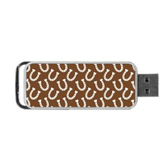 Horse Shoes Iron White Brown Portable Usb Flash (two Sides) by Mariart