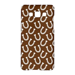 Horse Shoes Iron White Brown Samsung Galaxy A5 Hardshell Case  by Mariart
