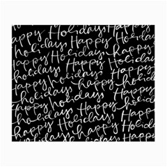 Happy Holidays Small Glasses Cloth by Mariart