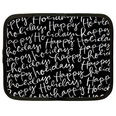 Happy Holidays Netbook Case (xxl)  by Mariart