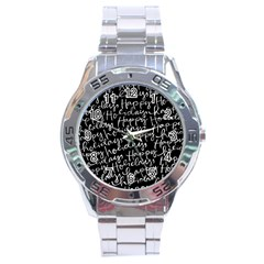 Happy Holidays Stainless Steel Analogue Watch by Mariart