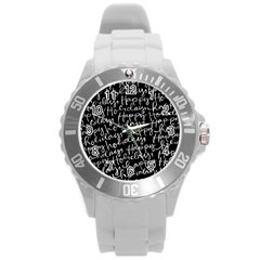 Happy Holidays Round Plastic Sport Watch (l) by Mariart