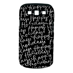 Happy Holidays Samsung Galaxy S Iii Classic Hardshell Case (pc+silicone)