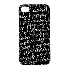 Happy Holidays Apple Iphone 4/4s Hardshell Case With Stand by Mariart