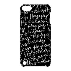 Happy Holidays Apple Ipod Touch 5 Hardshell Case With Stand by Mariart