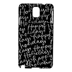 Happy Holidays Samsung Galaxy Note 3 N9005 Hardshell Case by Mariart