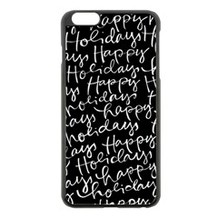 Happy Holidays Apple Iphone 6 Plus/6s Plus Black Enamel Case by Mariart