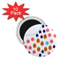Island Top View Good Plaid Spot Star 1 75  Magnets (10 Pack)  by Mariart