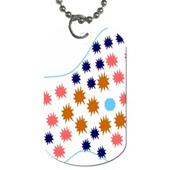 Island Top View Good Plaid Spot Star Dog Tag (one Side) by Mariart