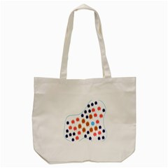 Island Top View Good Plaid Spot Star Tote Bag (cream) by Mariart