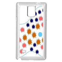 Island Top View Good Plaid Spot Star Samsung Galaxy Note 4 Case (white) by Mariart