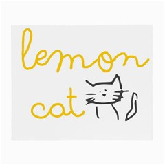 Lemon Animals Cat Orange Small Glasses Cloth by Mariart