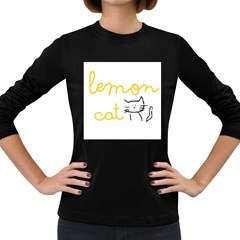 Lemon Animals Cat Orange Women s Long Sleeve Dark T-shirts
