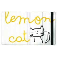 Lemon Animals Cat Orange Apple Ipad 3/4 Flip Case by Mariart