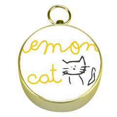 Lemon Animals Cat Orange Gold Compasses by Mariart