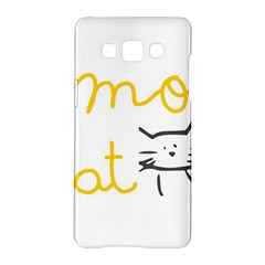 Lemon Animals Cat Orange Samsung Galaxy A5 Hardshell Case  by Mariart