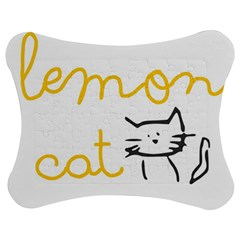 Lemon Animals Cat Orange Jigsaw Puzzle Photo Stand (bow) by Mariart