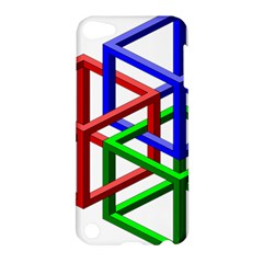 Impossible Cubes Red Green Blue Apple Ipod Touch 5 Hardshell Case by Mariart