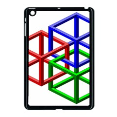 Impossible Cubes Red Green Blue Apple Ipad Mini Case (black) by Mariart